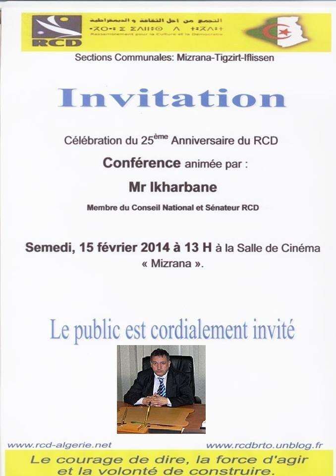 Mohand Ikarbane, membre du conseil national et sénateur RCD